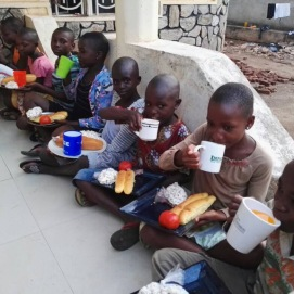 Breakfast at the orphanage